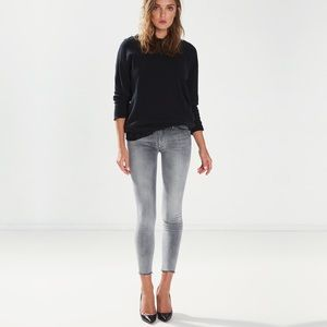 mother  the looker mid rise skinny grim shadows 24